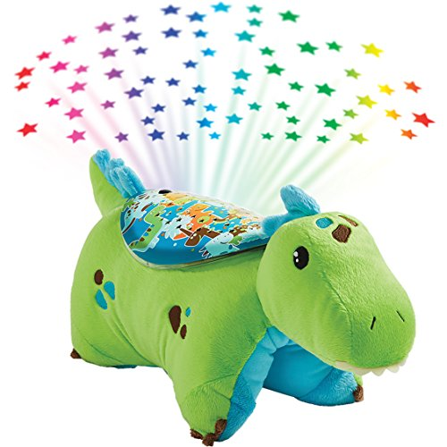 Pillow Pets Sleeptime Lites Green Dinosaur Stuffed Animal Plush Night Light