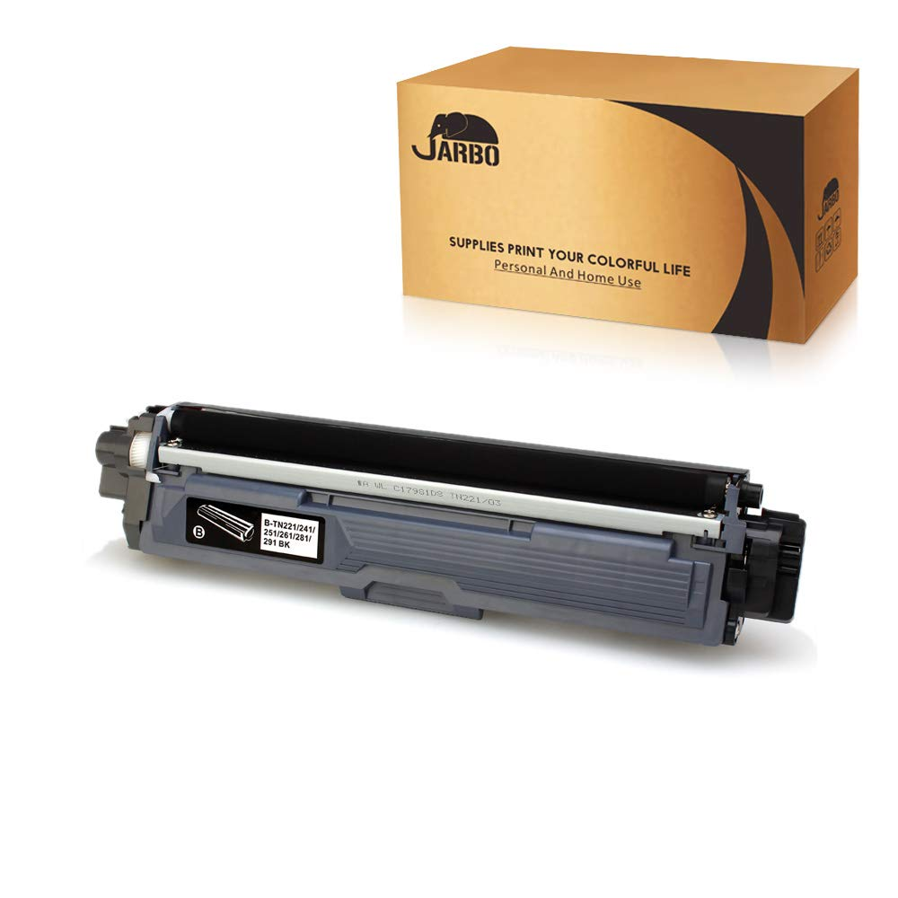JARBO Compatible for Brother TN221 TN-221 Toner Cartridges High Yield, 1 Black, Compatible with Brother HL-3140CW HL-3170CDW HL-3180CDW MFC-9130CW MFC-9330CDW MFC-9340CDW Laser Printer