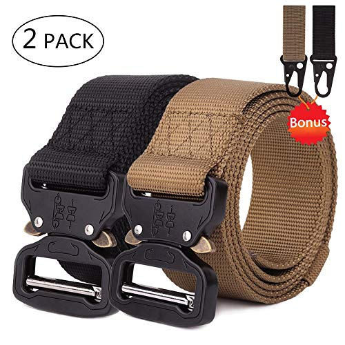 (Chengcaifengye 2Pack Tactical Belt Military Style Quick Release Belt 1.5