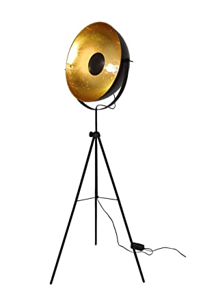 Lampadaire Retro Lampe Studio Big Alona Noire Et Or 10593 Amazon