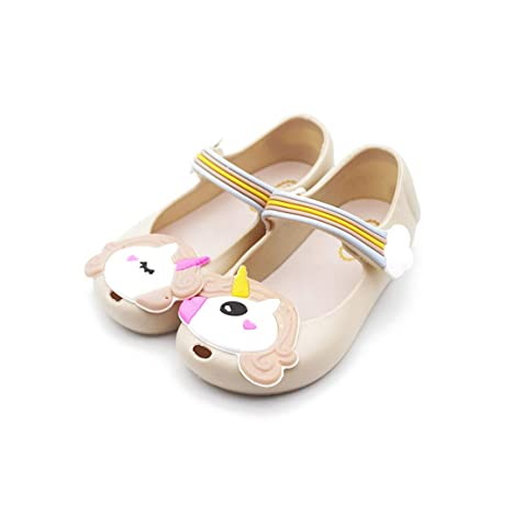 Amazon.com: Mini estilo lindo unicornio niñas Jelly zapatos ...