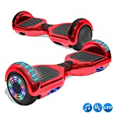 CHO Electric Smart Self Balancing Scooter Hoverboard Built-in LED Wheels Side Lights- UL2272 Certified (Rainbow Style 2 - No Bluetooth)