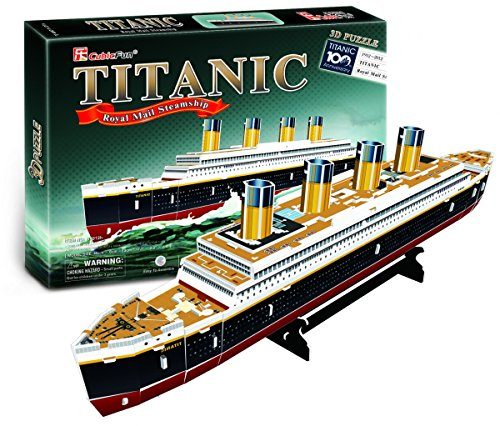 Cubic Fun RMS Titanic Ship 3D Puzzle Small 35 Pieces - Foam Toy Puzzle Ships