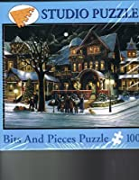 """Bits and Pieces 1000 Piece Christmas Puzzle """"THe Carolers"""" H. Hargrove"""