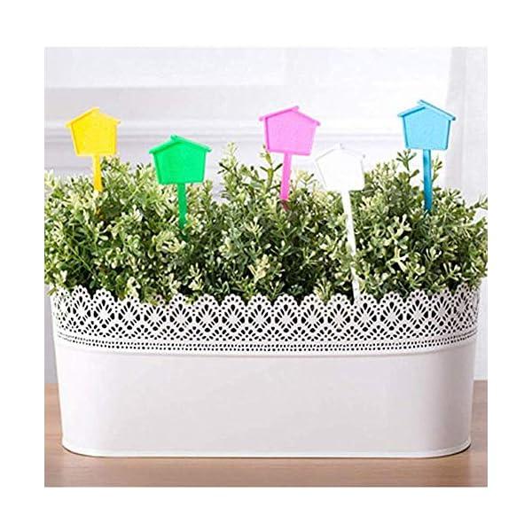 Etichette vegetali per Piante da Esterno Tag Giardino Etichette vegetali Impermeabili Etichette per Piante in Vaso… 7 spesavip