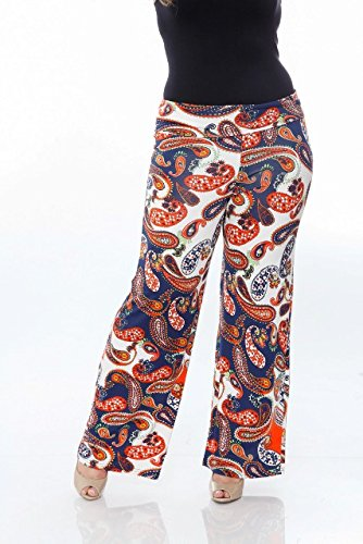 9e751c9aab7 Image Unavailable. Image not available for. Color  WM Women s Plus Size  Printed Palazzo Pants ...