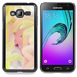 Stuss Case / Funda Carcasa protectora - Líneas de colores de pintura al óleo del arte de la primavera - Samsung Galaxy J3 GSM-J300