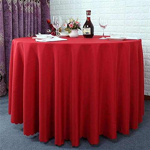 1PCS Wholesale Polyester Round Tablecloth For Wedding Hotel Decor 13 Colors Table Cloth Solid Table Linen Dining Table Cover  4 B07SDLRS3N
