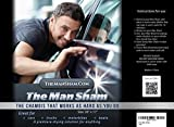 The Man Sham Chamois Cloth -Top Mens Gift - Ultimate Towel for Fast Drying of Your Car or Truck - Scratch and Lint Free Shine