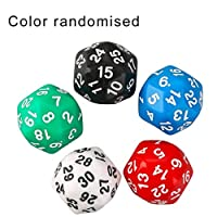 Passionsell Multi-Faceted Dice 30-Faced Dice Digital Dice Colorful Multicolor Dice Game Dice Children