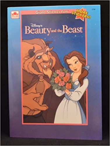 Disneys beauty and the beast giant sticker fun golden books 9780307027993 amazon com books