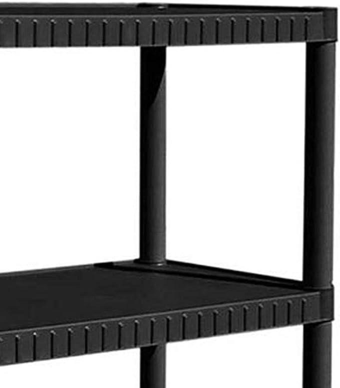 Contico 4-Tier Resin Garage Storage Shelf Black