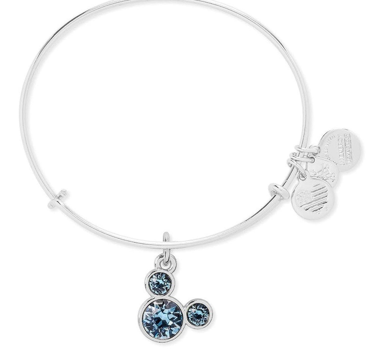 March Birthstone Mickey Mouse Icon Disney Alex & Ani Charm Bracelet