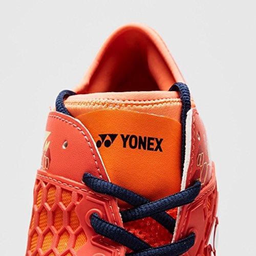 Yonex Nuovo Power Cushion 03Mk Calzature da Tennis Badminton Sport, Rosso, 47