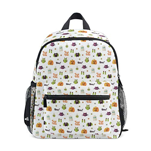 Boo Halloween Seamless Pattern Vector Cute Travel Backpacks College Bookbag -