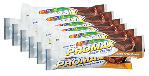Promax Double Fudge (Promax Protein Bar-Double Fudge Brownie/Nutty Butter Crisp-6 of ea (12 Bars Total))