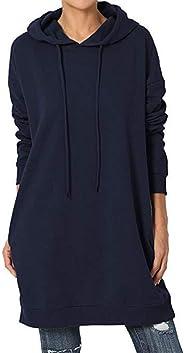 yokamira Women's Slim Fit Casual Hooded Lightweight Long Sleeve Sweatshirt