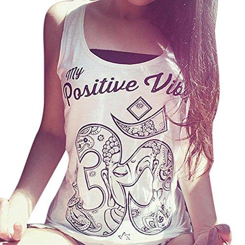 Sannysis Women Summer Cool Loose Sleeveless Casual Tank T-Shirt Blouse Tops Vest (M)