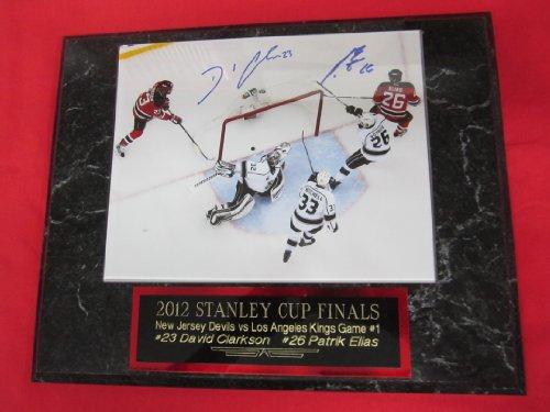 Patrik Elias and David Clarkson New Jersey Devils Autographed 8x10 Plaque STANLEY CUP - Devils New Plaque Jersey