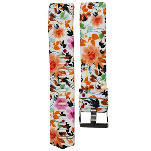 Fitbit Charge 2 Strap, OverDose Silicone Colorful Printing Replacement Band Strap for Fitbit Charge 2