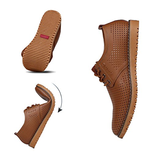 Lace Derby Da Business Estate Formale Uomo Vera Party Sposa Da MERRYHE Lavoro In Morbido Scarpe up Pelle Vestito Brown 7EqxA0Fw