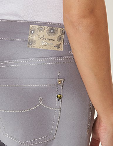With silver Femme Used Grey Sally Pioneer 4303 Pantalon Silber 0ZnYx