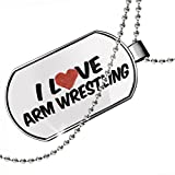 Dogtag I Love Arm Wrestling Dog tags necklace - Neonblond