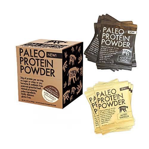 PaleoPro Protein Powder (Single-Serving 12 Packs) (Variety (6×6))