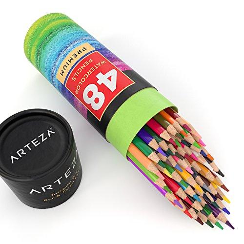 Arteza Watercolor Pencils, Soft-Core, Triangular-shaped, Pre-sharpened