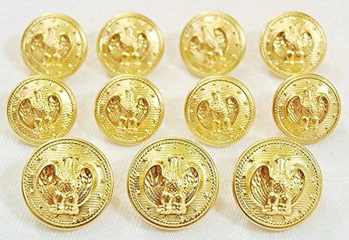 YCEE 11 Piece Gold Metal Blazer Button Set - Presidential Eagle Star - For Blazer, Sport Coat, Uniform, (Gold Star Button)