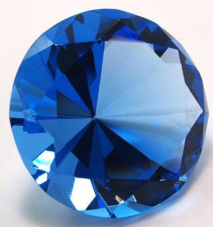 Sapphire Crystal Diamond Jewel Paperweight
