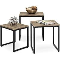 Best Choice Products 3-Piece Nesting Coffee End Table Set