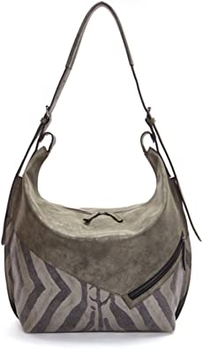 Ilona Designer Distressed Olive Hobo Handbag