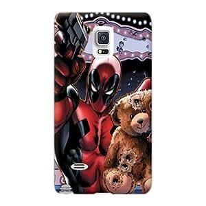 WandaDicks Samsung Galaxy Note 4 Shock Absorption Hard Phone Cases Custom Nice Deadpool Saving Teddy Bear Series [fXU29442dkWF]