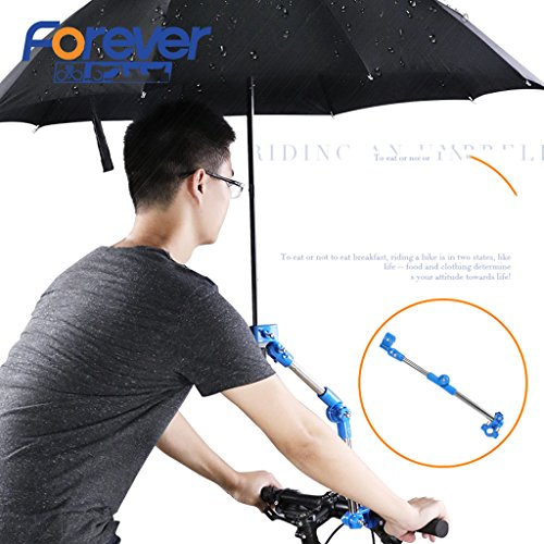 ZH Umbrella Rack Bicycle Electric Motorcycle Umbrella Stand Battery Car Baby Bicycle Folding Multi-Purpose Stainless Steel Umbrella Stand (Color : Blue)