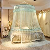 European princess dome suspended bed canopy mosquito net, Double Home Encrypt Thickened mosquito curtain-H Full-size