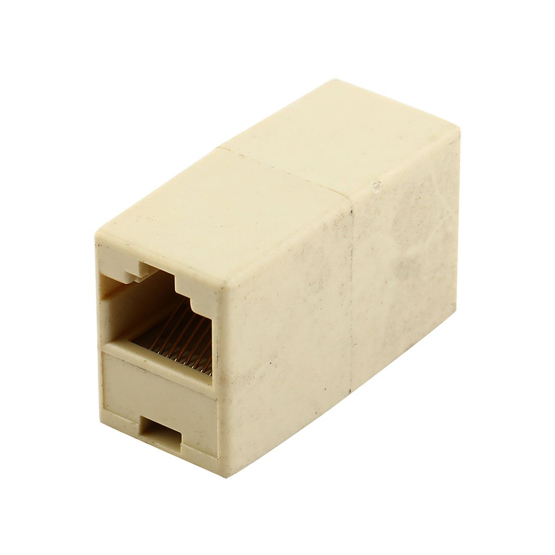 uxcell® RJ45 8P8C Female Internet Network Inline Cable Coupler Connector Adapter Beige a09021600ux0096