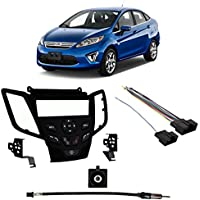 Fits Ford Fiesta 2011 w/o Sync SDIN Harness Radio Install Kit - Black Dash