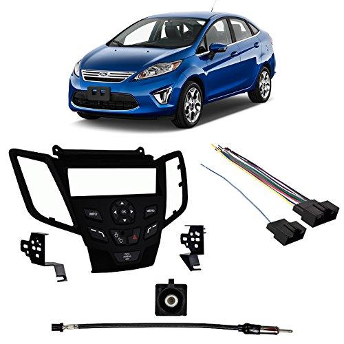 - Fits Ford Fiesta 2011 w/o Sync SDIN Harness Radio Install Kit - Black Dash