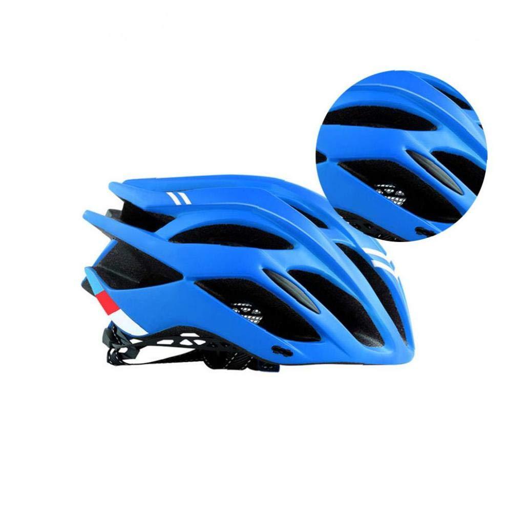 BRAVOLUNE Bici Adulta De Casco Ligero Liner C/ómodo Y Ajustable Tama/ño De La Correa Al Aire Libre Azul 1pc del Casco De Ciclista MTB Casco Transpirable