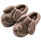 Boys Girls Winter Fur Home Slipper Anti Slip Cartoon Dogs Indoors Clog House Slippers for Kids Toddler