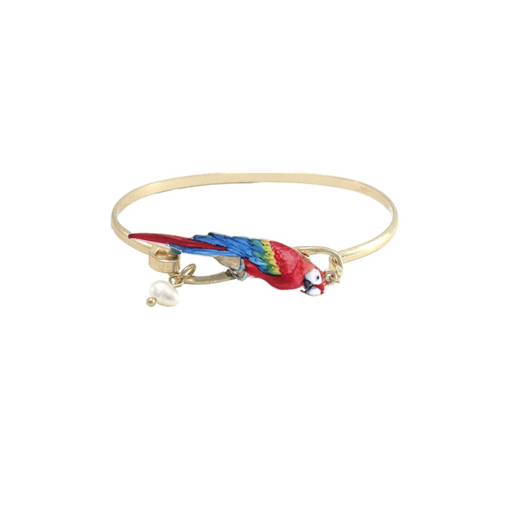 Wonderent Colorful Parrot Summer Fashion Bangle Bracelet