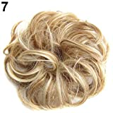 Connoworld-Women Wavy Curly Bun Synthetic Bud Hair Extension Messy Hair Hairpieces - 7