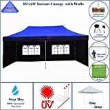 10'x20' Pop up Canopy Party Wedding Tent Gazebo EZ Blue Flame - E Model By DELTA Canopies
