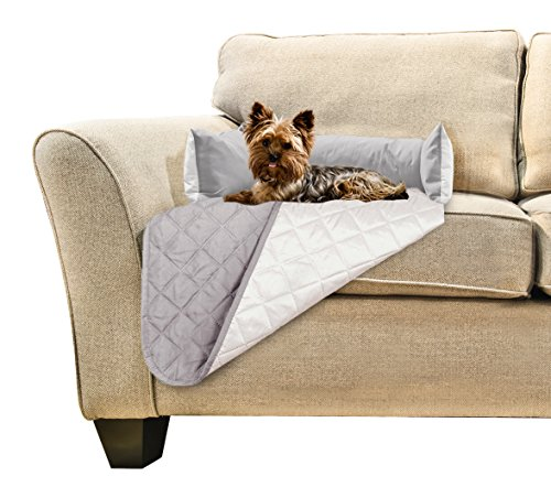 Furhaven Pet Sofa Buddy Pet Bed Furniture Cover, Small, Gray/Mist