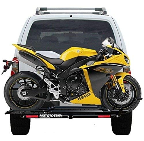 MotoTote Sport Bike Motorcycle Carrier Hitch Rack RAMP LED Light