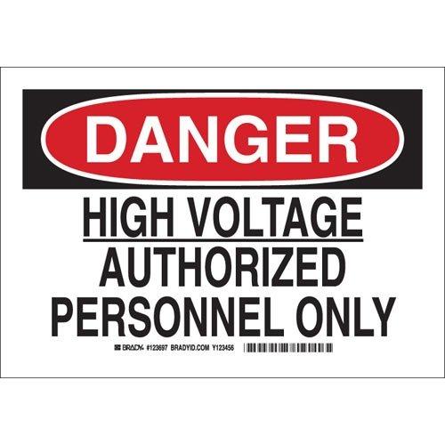Amazon.com: Brady 123695, señal de peligro eléctrico ...
