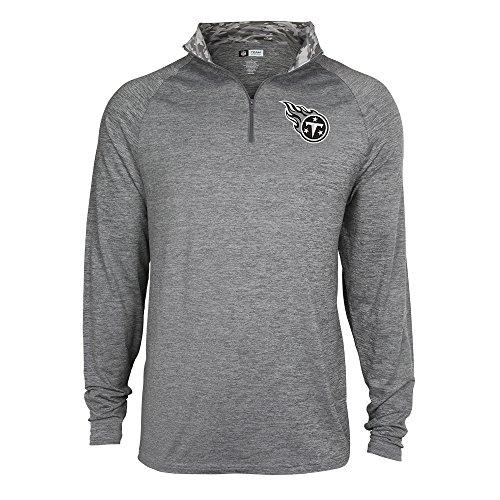 (ZUBAZ Men's NFL Tonal Gray Quarter Zip Sweatshirt, Large)