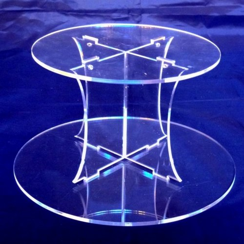 (Plain Acrylic Round Acrylic Pillars Wedding & Party Cake Separators/Stands 15cm 6
