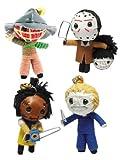 Horror Slasher Set of 4 x Voodoo String Doll Keychain Keyring...